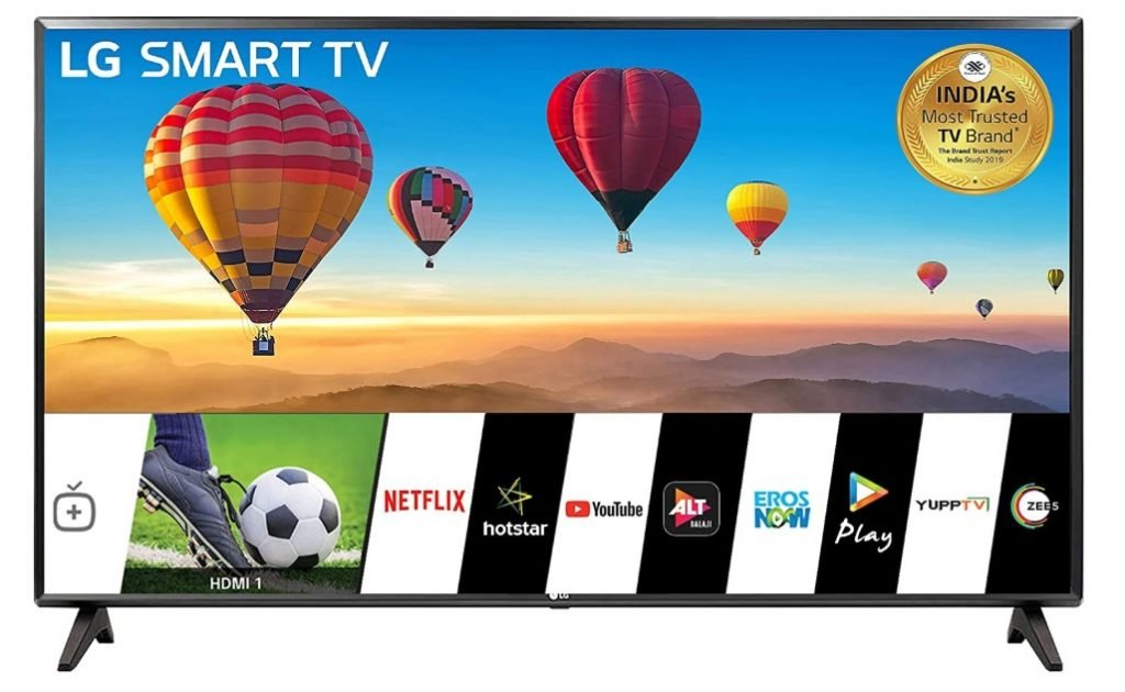 Image of LG TV which is one of the best smart TVs under 25000