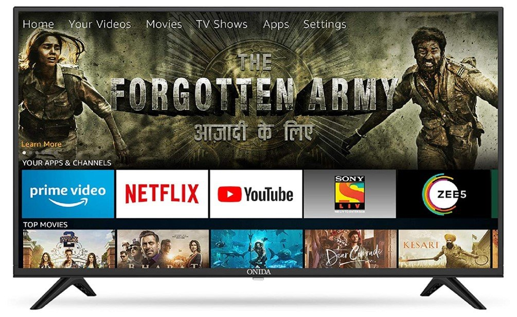 Picture of Onida Smart TV one of the best smart Tv with Fire OS.