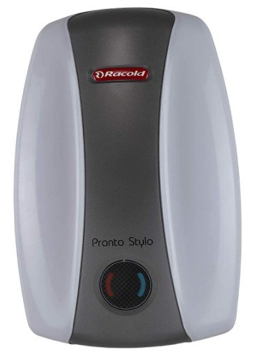 image of Racold Pronto Stylo 3L water geyser  which is one of the best budget geysers under rupees 5000